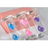 Quality Desktop Crystal Glass Material Hourglass 15 Or 30 Minutes Type Sand Clock for sale