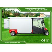 Quality Red 2 Passenger 48V  Electric Ambulance Car For Emergency Closed Type for sale