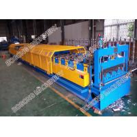 Quality Galvanized Coil Floor Deck Roll Forming Machine PLC Control With Embossing for sale