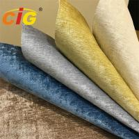 China 350gsm Woven Plain Style 100% Polyester Chenille Furniture Fabric For Curtain on sale