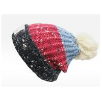 Quality Double Layer Colorful Knit Pom Pom Beanie Winter Warm Hat For Adults Customized Size for sale