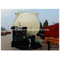 Quality Reinforced steel Cement semi Trailer for dry bulk powder material transportation with warranty for sale