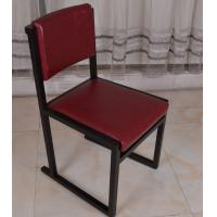 Quality Classic Wooden Chair Upholstered Leather Seat for Dining Restaurant Furniture for sale