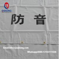 Quality PVC Sound Barrier Sheet fireproof mesh tent tarpaulin fabric construction fence for sale