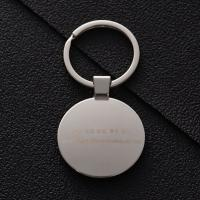 Buy Round-shape custom metal keyrings with printed dome stickers for corporate at wholesale prices
