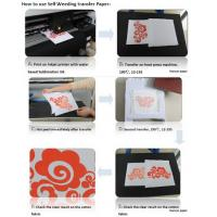 Best Self-weeding inkjet  Transfer Paper ,Sublimation ink print, for 100% light cotton, no need cut wholesale
