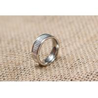 Quality Fashionable Shiny Satin Embossed Wedding Rings Comfort Fit Customized Width for sale