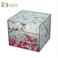 Buy cheap Three Layers Mirrored Glass Jewellery Box / Glass Earring Box Environment from wholesalers