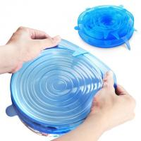 Quality Silicone Stretch Lids 6 Pack Covers Of Various Sizes for sale