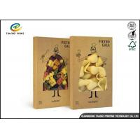 Quality Customed Printed Pasta Food Packing Boxes / Matt Lamination Fold Paper Box for sale
