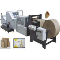 China Servo motor control high speed automatic food kraft paper bag making machine on sale