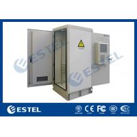 Quality Anti Corrosion Powder Coated Thermostatic Outdoor Telecom Cabinet With Front Rear Access for sale