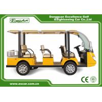 Quality 72V Trojan Battery Electric Sightseeing Bus for sale