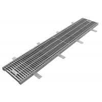 Quality Outdoor Metal Drain Grate Cover, Corrosion Resistant HDG Steel Grating for sale