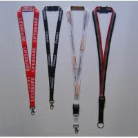 Woven Lanyard WVL-1, Double Polyester Lanyard with Woving your logo