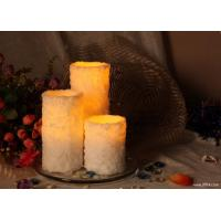 Best DFL-W10527 white snow wax flameless candle with dual timer(4hrs~8hrs) wholesale