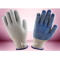 Quality Better Grip Cotton Knitted Gloves 550 - 1000g Per Dozen Weight Hand Protective for sale
