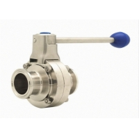 Quality 316L Tri Clamp Double Flanged Butterfly Valve Stainless Steel 304 for sale