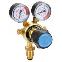 China Light Duty Compressed Gas Pressure Regulator , CO2 Argon Gas Regulator With Flow Meter on sale