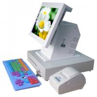 "Quality 15""Touch Screen POS Terminal , Retail / Restaurant Pos Systems with Printer,Keyboard,Customer Display for sale"