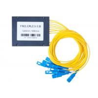 Quality 1 To 8 Optische Faser PLC OFC Splitter Grey Color 130*100*25mm Dimension for sale