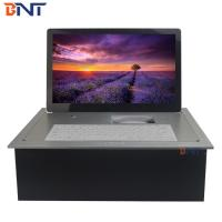 Quality silver high quality with 18.5inch FHD screen computer desk electric lcd monitor BF6-18.5A for sale