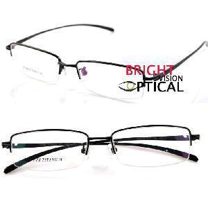 Quality 9213 Man′s Half Rim Pure Titanium Optical Frames Eyeglasses Eyewear for sale