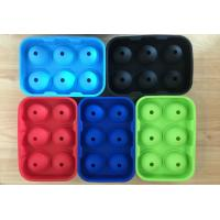 Quality Large Silicone Ball Shaped Ice Tray, Whiskey Cocktails Beverages Silicone Round Ice Ball Tray for sale
