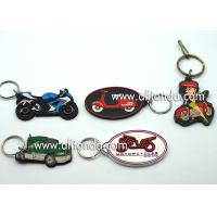 Quality Car motorcycle exhibition promotional gifts promotional key chains soft pvc key rings custom car series keychain supply for sale
