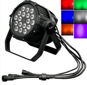 Quality IP66 Waterproof Digital Display LED 18Bulbs x 18W Balck Cast RGBWA+UV Par Light for sale