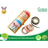 China Printed Waterproof Masking Tape , Washi Colored Paper Masking Tape For Kid on sale