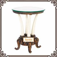Best Chic and Elegant Antique Round Coffee Table Livingroom furniture antique table G058GE wholesale