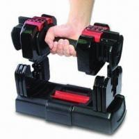 Quality Gym Dumbbell Set, Adjust from 2.5 to 20 Pounds Weight, with Durable Plastic Weight Tray for sale