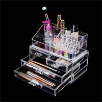 China Clear Makeup case drawers Cosmetic Organizer Jewelry storage Acrylic cabinet Box on sale