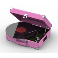 Quality 2015 NEW Suitcase 3 speed USB turntable record player support MP3 encoding for sale