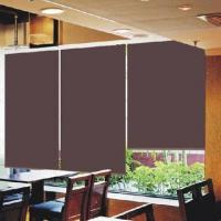 Best Blackout roller shade with plastic ball chain, double sides brown color coating, 200/230cm width wholesale