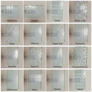 China 3mm 4mm 5mm 6mm Diamond Chinchilla Flora Nashiji Rolled Glass Figured Glass Pattern Glass on sale
