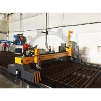 Quality ISO CNC Flame Cutting Machine 4m Span Two Heads Double Servo Drivers Thick Plate for sale