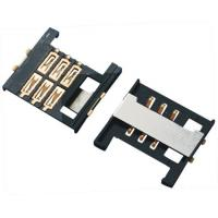 China Mobile Phone SIM Card Connector 6P Side Push Type LCP Plastic SMT 2.0H - Body on sale