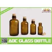 High Quality Amber Cork Pharmaceutical Glass Bottles Brown Color
