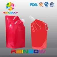 Best 350ml 500ml 1L  plastic Flask Water green red color printed Bottle Bag with big Cap wholesale