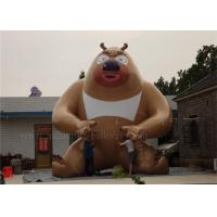 Quality 6m Strong Inflatable Cartoon Characters , Outdoor Brown Inflatable Bear for sale
