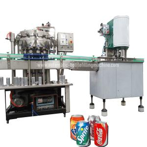 Quality 500can/H Carbonated Soft Drink  Soda Canning Machine for sale