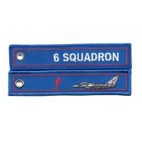 Best 6 Squadron RAF Lossiemouth Remove Before Flight Typhoon Twill Keyring Embroidered wholesale