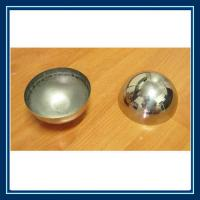 China gazing stainless steel half sphere / 304 hollow steel half ball on sale