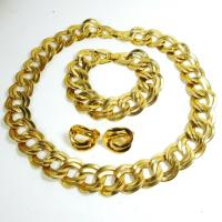 Best Hot sale solid gold plated brass plain chain link necklace for women / unisex wholesale