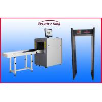 Quality FCC  small channel  X Ray Baggage Scanner XRay Machines with 6zone metal detector for Airport for sale