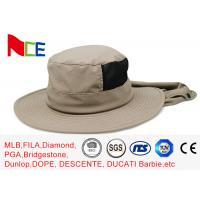 Buy cheap Joint Khaki Fishman Bucket Hat Protect neck from sunburn With Adjustable from wholesalers