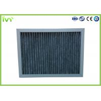 China High Carbon Content Pleated Air Filters , Chemical Air Filter For Air Conditioner on sale