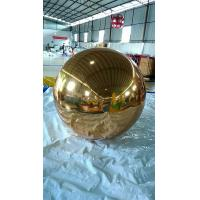 Best 0.3MM PVC 2M Golden Disco Inflatable Mirror Ball For Event / Exihibition wholesale